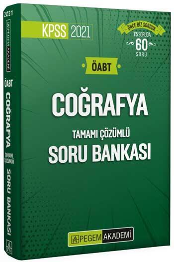 Pegem Akademi Yayıncılık - Pegem Yayınları 2021 ÖABT Coğrafya Tamamı Çözümlü Soru Bankası