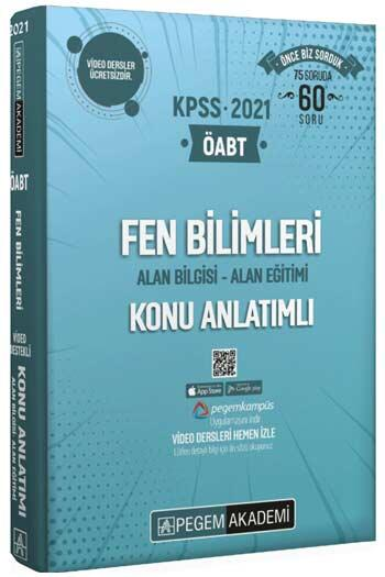 Pegem Akademi Yayıncılık - Pegem Yayınları 2021 ÖABT Fen Bilimleri Fen ve Teknoloji Video Destekli Konu Anlatımlı Modüler Set 4 Kitap