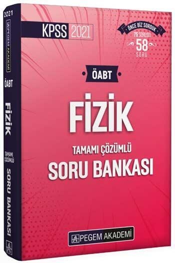 Pegem Akademi Yayıncılık - Pegem Yayınları 2021 ÖABT Fizik Tamamı Çözümlü Soru Bankası