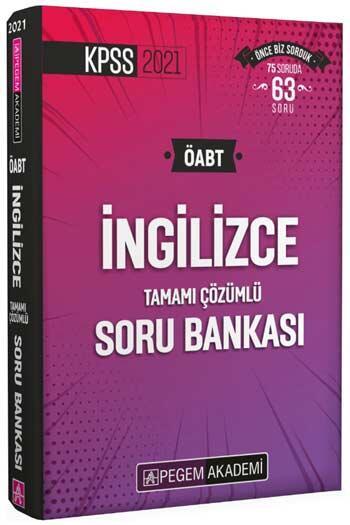 Pegem Akademi Yayıncılık - Pegem Yayınları 2021 ÖABT İngilizce Tamamı Çözümlü Soru Bankası
