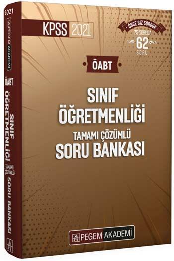 Pegem Akademi Yayıncılık - Pegem Yayınları 2021 ÖABT Sınıf Öğretmenliği Tamamı Çözümlü Soru Bankası