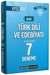 Pegem Akademi Yayıncılık - Pegem Yayınları 2021 ÖABT Türk Dili ve Edebiyatı Tamamı Çözümlü 7 Deneme