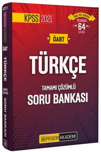 Pegem Akademi Yayıncılık - Pegem Yayınları 2021 ÖABT Türkçe Tamamı Çözümlü Soru Bankası