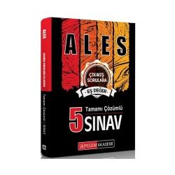 Pegem Akademi Yayıncılık - Pegem Yayınları ALES Tamamı Çözümlü 5 Sınav