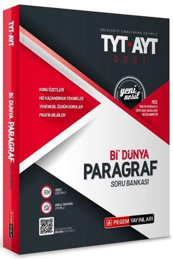 Pegem Akademi Yayıncılık - Pegem Yayınları TYT AYT Bi Dünya Paragraf Soru Bankası