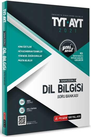 Pegem Akademi Yayıncılık - Pegem Yayınları TYT AYT Dil Bilgisi Tamamı Çözümlü Soru Bankası