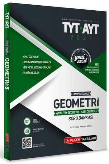 Pegem Akademi Yayıncılık - Pegem Yayınları TYT AYT Geometri (Analitik Geometri Katı Cisimler) Tamamı Çözümlü Soru Bankası