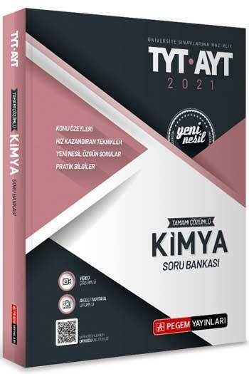 Pegem Akademi Yayıncılık - Pegem Yayınları TYT AYT Kimya Tamamı Çözümlü Soru Bankası