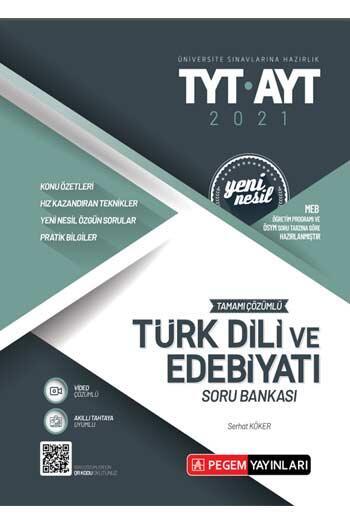 Pegem Akademi Yayıncılık - Pegem Yayınları TYT AYT Türk Dili ve Edebiyatı Tamamı Çözümlü Soru Bankası
