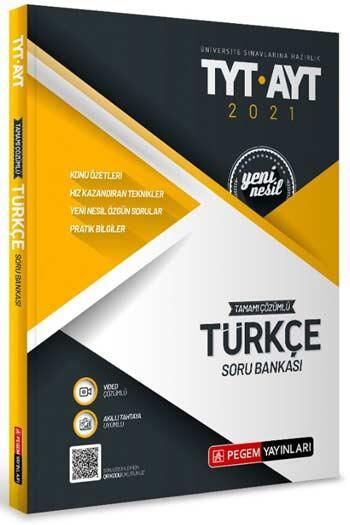 Pegem Akademi Yayıncılık - Pegem Yayınları TYT AYT Türkçe Tamamı Çözümlü Soru Bankası