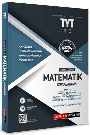 Pegem Akademi Yayıncılık - Pegem Yayınları TYT Matematik Tamamı Çözümlü Soru Bankası