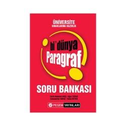 Pegem Akademi Yayıncılık - Pegem Yayınları Üniversite Sınavlarına Hazırlık Bi Dünya Paragraf Soru Bankası