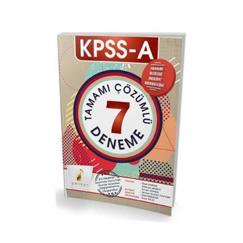 Pelikan Yayıncılık 2018 KPSS A Grubu Tamamı Çözümlü 7 Deneme