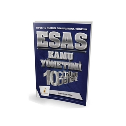 Pelikan Yayıncılık - Pelikan Yayıncılık 2018 KPSS ve Kurum Sınavlarına Yönelik ESAS Kamu Yönetimi 10 Çözümlü Deneme