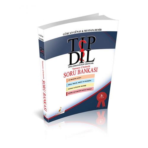 Pelikan Yayıncılık İngilizce Tıpdil Tamamı Çözümlü Soru Bankası