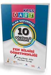 Pelikan Yayıncılık - Pelikan Yayınları 2017 ÖABT Fen Bilgisi Öğretmenliği Çözümlü 10 Deneme