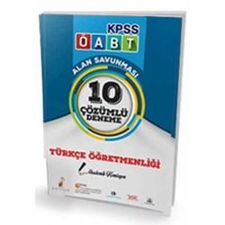Pelikan Yayıncılık - Pelikan Yayınları 2017 ÖABT Türkçe Öğretmenliği 10 Çözümlü Deneme Sınavı