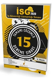 Pelikan Yayıncılık - Pelikan Yayınları 2020 İSG İş Güvenliği Uzmanlığı Sınavı Tamamı Çözümlü 15 Deneme