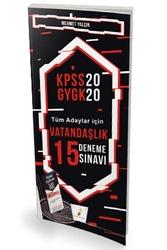 Pelikan Yayıncılık - Pelikan Yayınları 2020 KPSS Vatandaşlık Dijital Çözümlü 15 Deneme Sınavı