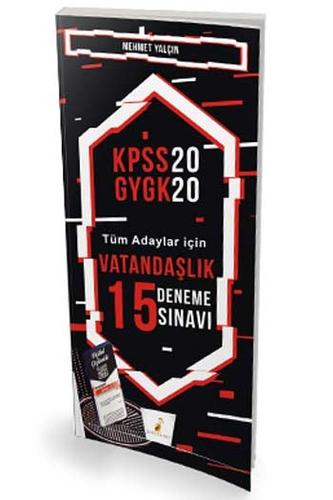 Pelikan Yayınları 2020 KPSS Vatandaşlık Dijital Çözümlü 15 Deneme Sınavı