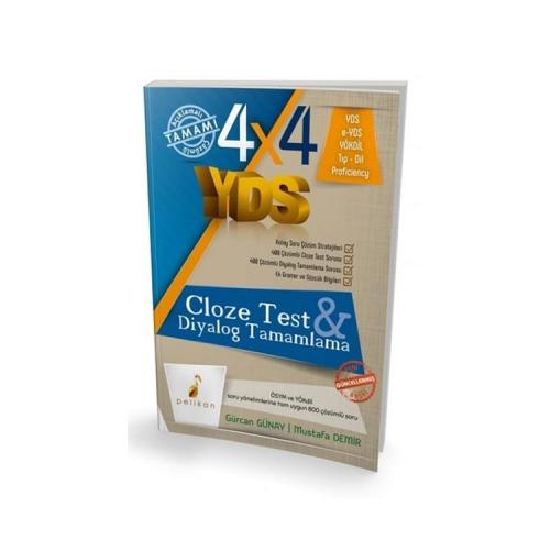 Pelikan Yayınları 4×4 YDS Seti 3. Kitap Cloze Test, Diyalog Tamamlama