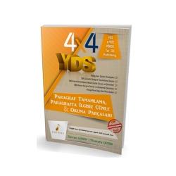 Pelikan Yayıncılık - Pelikan Yayınları 4x4 YDS Seti 2. Kitap Paragraf Tamamlama, Paragrafta İlgisiz Cümle ve Okuma Parçaları