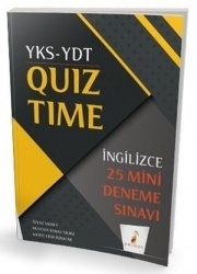 Pelikan Yayıncılık - Pelikan YKS YDT İngilizce Quiz Time 25 Mini Deneme Pelikan Yayınları