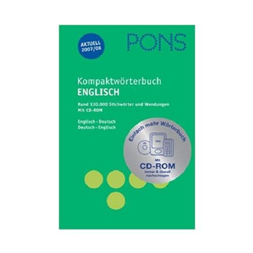 Pons Kompaktwörterbuch Englisch Deutsch – Deutsch Englisch
