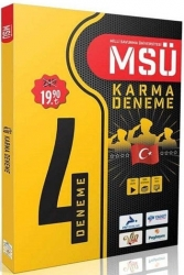Prf Yayınları - PRF Yayınları MSÜ 4 lü Karma Deneme