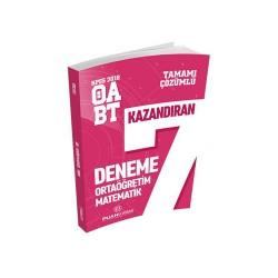 Puan Akademi Yayınları - Puan Akademi Yayınları 2018 ÖABT Ortaöğretim Matematik Öğretmenliği Tamamı Çözümlü 7 Deneme