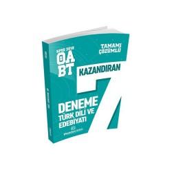 Puan Akademi Yayınları - Puan Akademi Yayınları 2018 ÖABT Türk Dili ve Edebiyatı Öğretmenliği Tamamı Çözümlü 7 Deneme