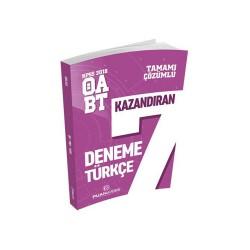 Puan Akademi Yayınları - Puan Akademi Yayınları 2018 ÖABT Türkçe Öğretmenliği Tamamı Çözümlü 7 Deneme