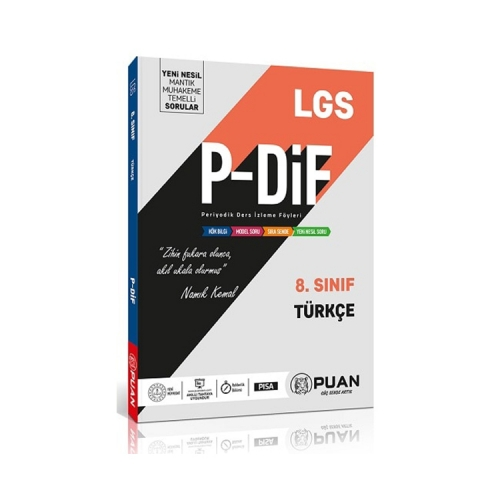 Puan Yayınları 8. Sınıf LGS Türkçe PDİF Konu Anlatım Föyleri