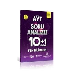Puan Akademi Yayınları - Puan Yayınları AYT Fen Bilimleri Soru Analizli 10+1 Deneme