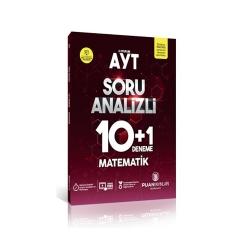 Puan Akademi Yayınları - Puan Yayınları AYT Matematik Soru Analizli 10+1 Deneme