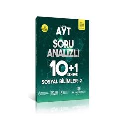 Puan Akademi Yayınları - Puan Yayınları AYT Sosyal Bilimler 2 Soru Analizli 10+1 Deneme