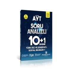 Puan Akademi Yayınları - Puan Yayınları AYT Türk Dili ve Edebiyatı Sosyal Bilimler 1 Soru Analizli 10+1 Deneme
