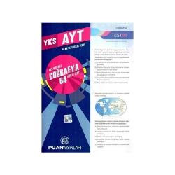 Puan Akademi Yayınları - Puan Yayınları YKS 2. Oturum AYT Coğrafya Çek Kopart 64 Akıllı Test