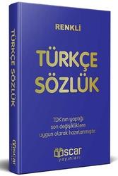 Oscar Yayınları - Renkli Plastik Kapak Türkçe Sözlük Oscar Yayınları