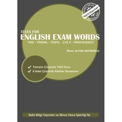 Saklı Bilgi Yayınları - Saklı Bilgi Yayınları Tests for English Exam Words