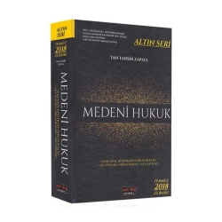 Savaş Yayınevi - Savaş Yayınları 2018 Medeni Hukuk Altın Seri 23.Baskı