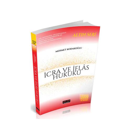 Savaş Yayınları 2019 İcra ve İflas Hukuku Altın Seri 8. Baskı
