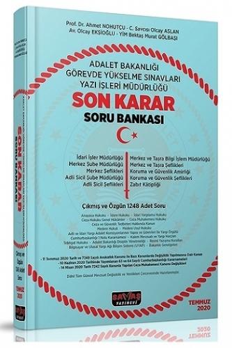 Savaş Yayınları 2020 Adalet Bakanlığı GYS Sınavları Yazı İşleri Müdürlüğü Son Karar Soru Bankası
