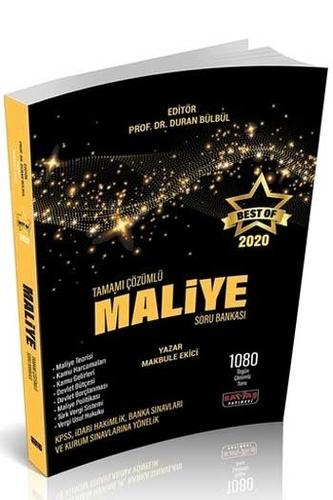 Savaş Yayınları 2020 BEST OF Maliye Tamamı Çözümlü Soru Bankası