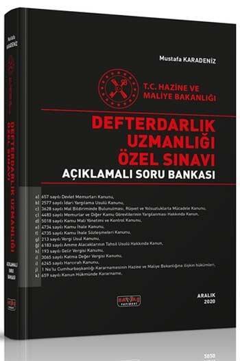 Savaş Yayınevi - Savaş Yayınları 2021 Defterdarlık Uzmanlığı Özel Sınavı Açıklamalı Soru Bankası