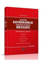 Savaş Yayınevi - Savaş Yayınları 2021 Senatör Kaymakamlık Sınavına Hazırlık Mevzuatı