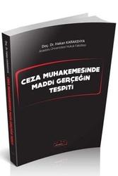 Savaş Yayınevi - Savaş Yayınları Ceza Muhakemesinde Maddi Gerçeğin Tespiti