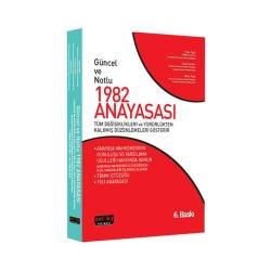 Savaş Yayınevi - Savaş Yayınları Güncel ve Notlu 1982 Anayasası 6. Baskı