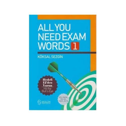 Sezgin Yayınevi All You Need Exam Words 1