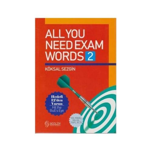 Sezgin Yayınevi All You Need Exam Words 2